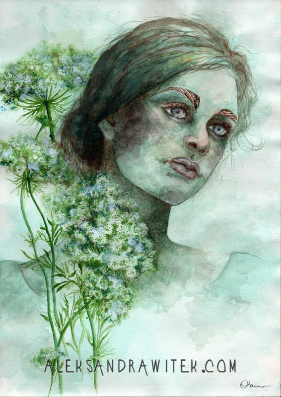 portrait with queen anne's lace